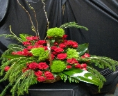 FRESH CUT FUNERAL BASKET in Glasgow KY, Jeff's Country Florist & Gifts