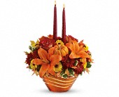 Teleflora's Amber Waves Centerpiece in Commerce Twp., Michigan, Bella Rose Flower Market