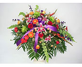 Sweet Farewell Casket Spray in Indianapolis IN, Gillespie Florists