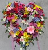 SWEET FAREWELL STANDING HEART by Rubrums in Ossining NY, Rubrums Florist Ltd.