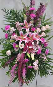 LOVING GRACE STANDING SPRAY by Rubrums in Ossining NY, Rubrums Florist Ltd.