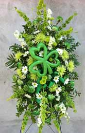 IRISH TRIBUTE STANDING SPRAY by Rubrums in Ossining NY, Rubrums Florist Ltd.