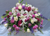 GRACEFUL ELEGANCE CASKET SPRAY  by Rubrums in Ossining NY, Rubrums Florist Ltd.