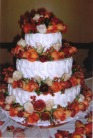Harvest Roses Bridal Cake in Lake Charles, Louisiana, A Daisy A Day Flowers & Gifts, Inc.