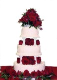 Deep Red Roses Cake Decoration in Lake Charles, Louisiana, A Daisy A Day Flowers & Gifts, Inc.