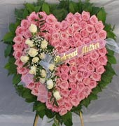 TENDER LOVE STANDING PINK ROSE  HEART by Rubrums in Ossining NY, Rubrums Florist Ltd.