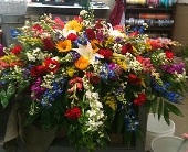 Mixed Casket Spray in Tuscaloosa, Alabama, Amy's Florist