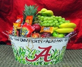 Ala. Tin with Fruit and snacks in Tuscaloosa AL, Amy's Florist