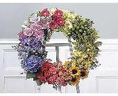 Multicolor wreath in San Antonio, Texas, Blooming Creations Florist