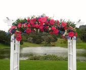 Arbor Decoration in Campbell, California, Jeannettes Flowers