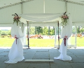 Full Huppah Display  in Saratoga Springs, New York, Dehn's Flowers & Greenhouses, Inc