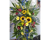 Standing Spray Blue in Fincastle VA, Cahoon's Florist and Gifts