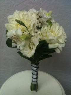 Braided white on white in Chelsea, Michigan, Gigi's Flowers & Gifts