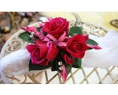 Wrist Corsage Fuschia in San Antonio, Texas, Blooming Creations Florist