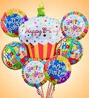Happy Birthday Mylar Bundle in Woodbridge VA, Lake Ridge Florist