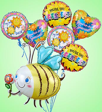 Bumble Bee Mylar Bundle in Woodbridge VA, Lake Ridge Florist