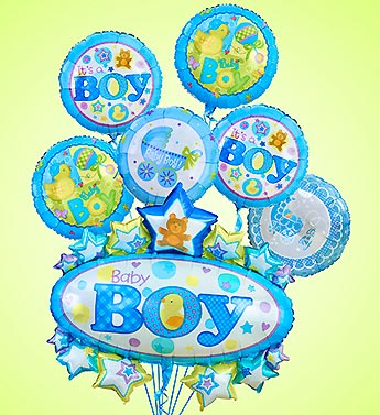 Baby Boy Marquee Mylars in Woodbridge VA, Lake Ridge Florist
