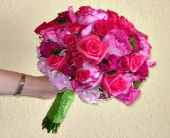 Hot Pink Garden Rose Bouquet in Campbell, California, Jeannettes Flowers