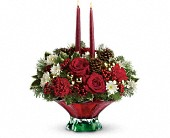 Teleflora's Always Merry Centerpiece in Toronto ON, LEASIDE FLOWERS & GIFTS