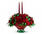 Teleflora's Joyful Christmas Centerpiece in Toronto ON, LEASIDE FLOWERS & GIFTS