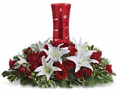 Teleflora's Wondrous Night Centerpiece in Burleson TX, Blossoms On The Boulevard
