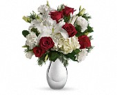 Teleflora's Silver Noel Bouquet in Brooklyn NY, Artistry In Flowers