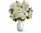 Teleflora's Shimmering White Bouquet in Brook Park OH, Petals of Love