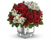 Teleflora's Christmas Blush Bouquet in Brook Park OH, Petals of Love