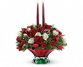 Teleflora's Colors of Christmas Centerpiece in Washington DC, Flowers on Fourteenth