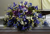 Blue Nautical Themed Casket Piece in Roselle, Illinois, Roselle Flowers