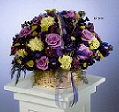 Mixed Basket Arrangement in Roselle IL, Roselle Flowers