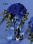 Blue Rose Vase Bouquet in Roselle IL, Roselle Flowers