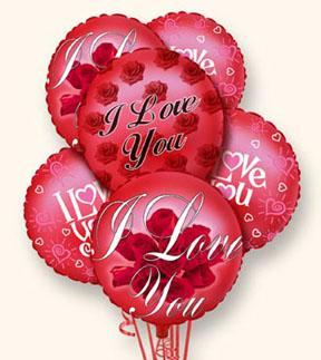 I Love You Balloon Bunch in Highlands Ranch CO, TD Florist Designs