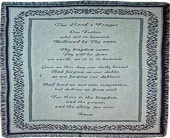 Lord's Prayer Throw in Vevay, Indiana, Edelweiss Floral