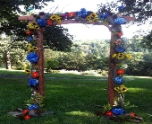 Sensational Summer Arch in Burlington NJ, Stein Your Florist