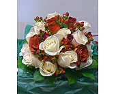 Bridesmain In Reds & Whites in St. Petersburg FL, Hamiltons Florist