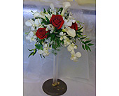 Cascades in Whites & Red in St. Petersburg FL, Hamiltons Florist