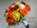 Hand-tied w/ Fall Roses in Elkland PA, The Rainbow Rose