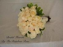 Hand-tied White Round in Elkland PA, The Rainbow Rose