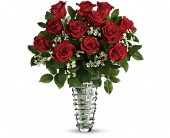 Teleflora's Beautiful Bouquet - Long Stemmed Roses in Columbus NJ, Twisted Willow Flowers