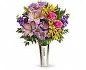 Teleflora's Silver Cross Bouquet in Portsmouth, New Hampshire, Woodbury Florist & Greenhouses