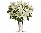 Teleflora's Sacred Cross Bouquet in Portsmouth, New Hampshire, Woodbury Florist & Greenhouses