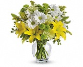 Hales Corners Flowers - Teleflora's Brightly Blooming - Barb's Green House Florist