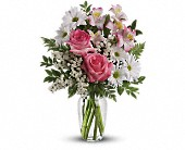 What a Treat Bouquet with Roses in Hinckley IL, Hinckley Floral Inc.