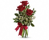 Thoughts of You Bouquet with Red Roses in Columbus NJ, Twisted Willow Flowers