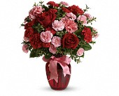 Dance with Me Bouquet with Red Roses in Dover DE, Bobola Farm & Florist
