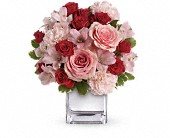 Teleflora's Love That Pink Bouquet with Roses in Champaign IL, Forget Me Not Florals