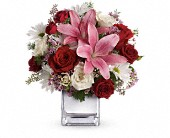 Teleflora's Happy in Love Bouquet in Champaign IL, Forget Me Not Florals