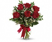 Thoughts of You Bouquet with Red Roses - Deluxe, picture