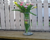 Tulip Wedding Centerpiece in Kingston NY, Flowers by Maria